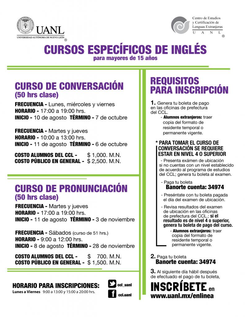 cursos especificos ingles AGO2015