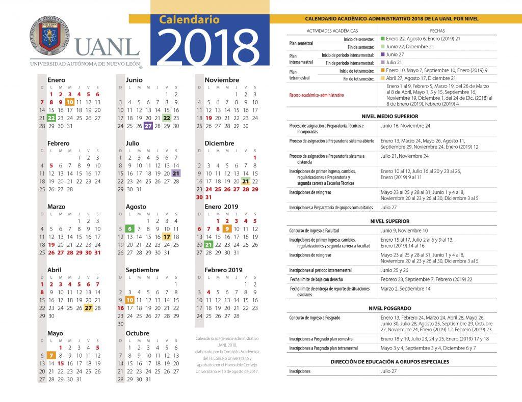 Calendario uanl calendario uanl 2018 2019 altavistaventures Gallery
