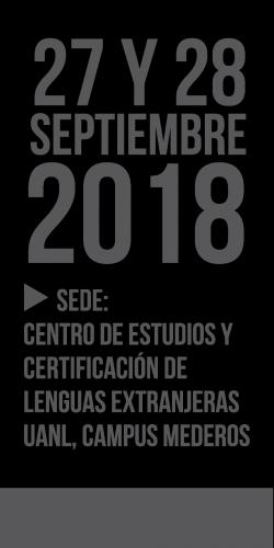 FECHA DEL CONGRESO Y COLOQUIO 2018
